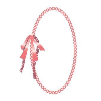 珍珠項鍊,蕾絲和緞帶