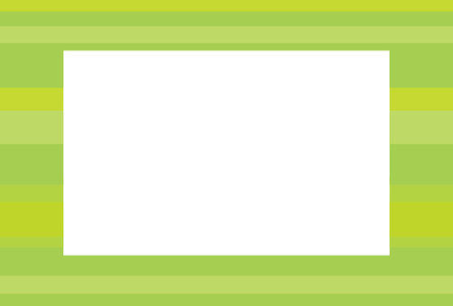 Yellow green square frame (horizontal stripes)