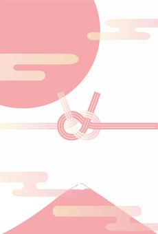 연하장 배경 후지 미즈 디자인