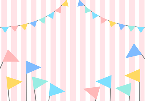 Flag garland background