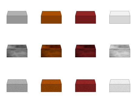 Stone material set