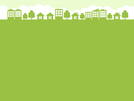 Cityscape background yellowish green