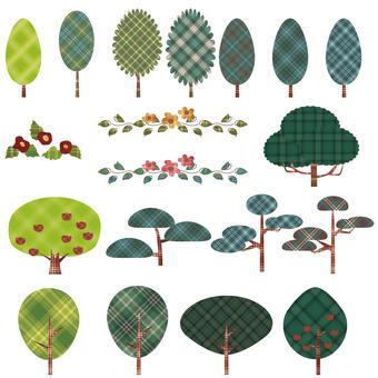Tree and leaf line