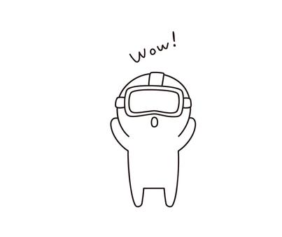 VR을 경험하는 사람 ゆるぼ ~