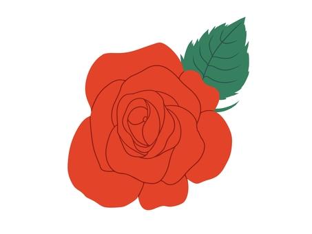シンプル着色薔薇