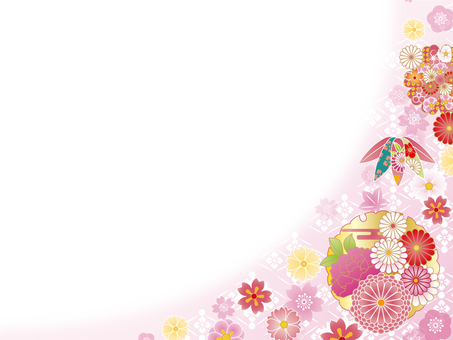 Japanese Pattern Background (Pink)