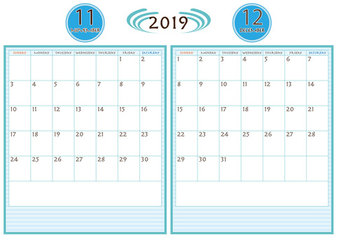 Calendar November-December 2019