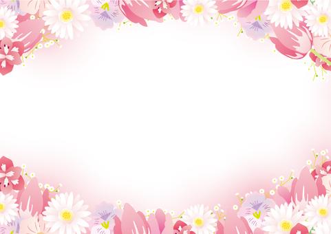 Spring flower frame 02