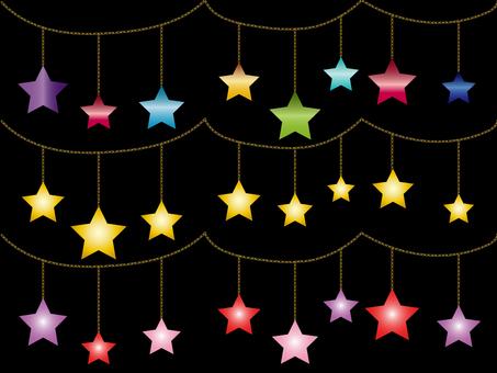 Star ornament Various material set