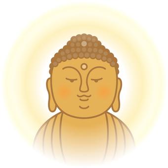 Buddha standing on a dream pillow