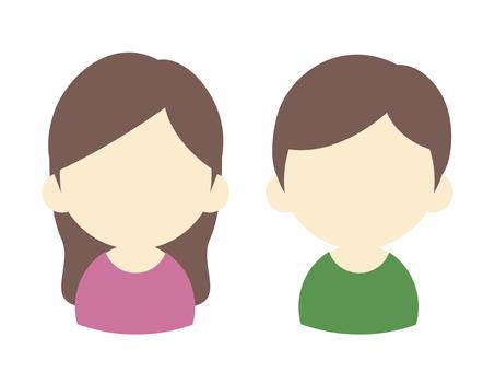 女性和男性用戶圖標