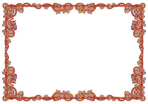Arabesque frame (eddy-arabesque red yellow-green)
