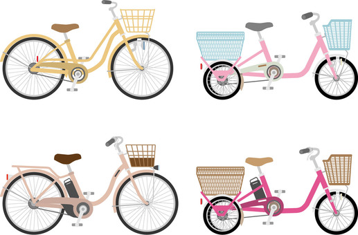Several bicycles for one mom
