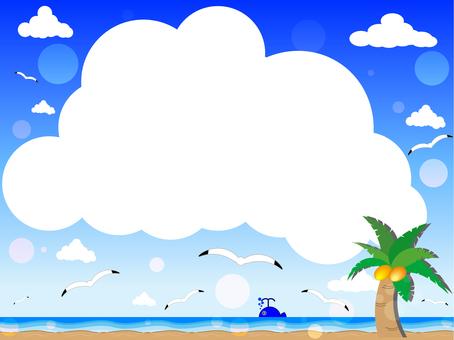 Sea and beach and cloud frame
