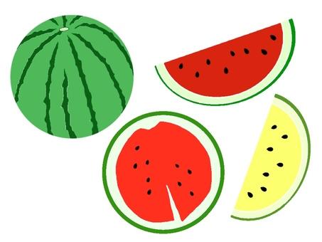 Watermelon set (without black frame / single color)