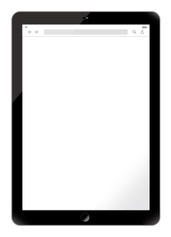 Tablet black (screen transparency)