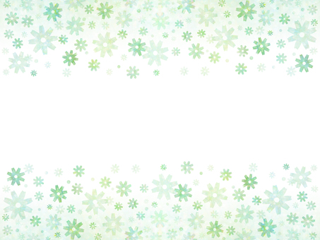 花卉圖案(綠色3)