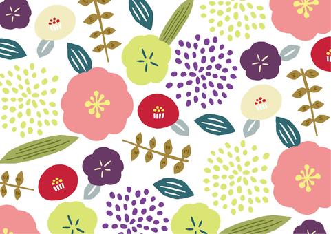 Textil de flores