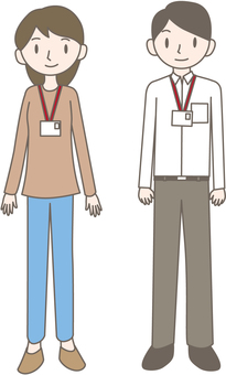 Men and women with ID cards