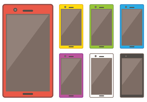 Colorful smartphone
