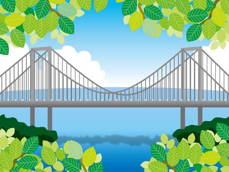 Fresh green green and day rainbow bridge