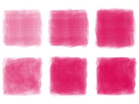 深粉色手寫水彩圖片模擬風格裝飾框架