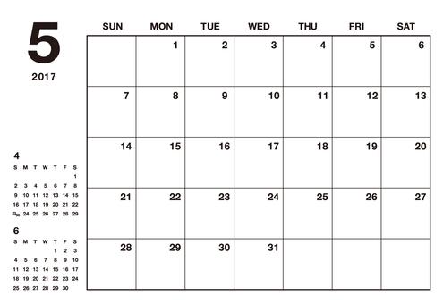 May 2017 Calendar Simple