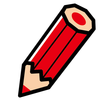 Red pencil ordinary simple noticeable