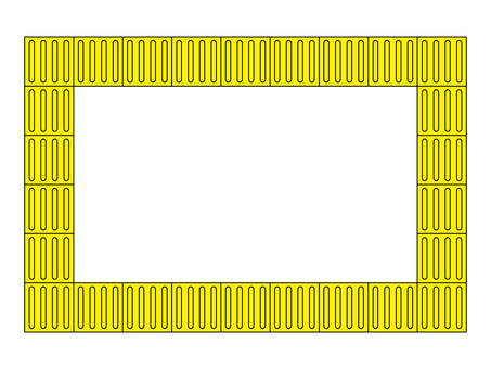 Braille block (induction) frame