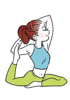 Woman enjoying yoga