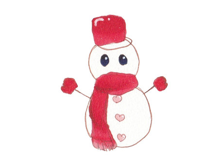 【Cute Snowman】 Hand-painted ♪