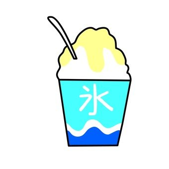 Shaved ice lemon taste
