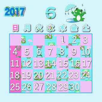 2017 calendar June