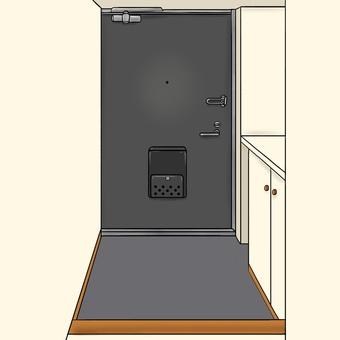 Front door (door black)