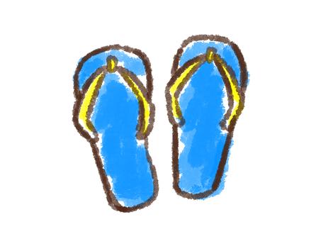 Crayon series [Besan / Blue]