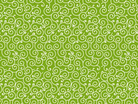 Arabesque pattern yellow green