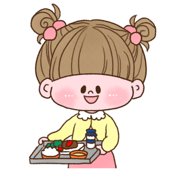 Girl with school lunch