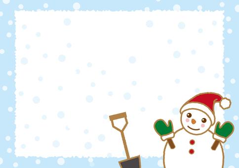 Snowman message card
