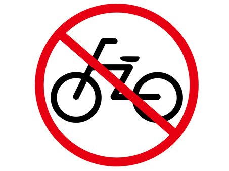 Bicycle parking mark