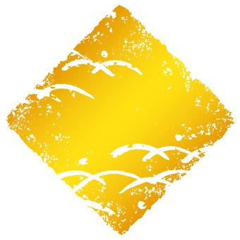 Stamp angle _ lawn deep _ gold _ cs