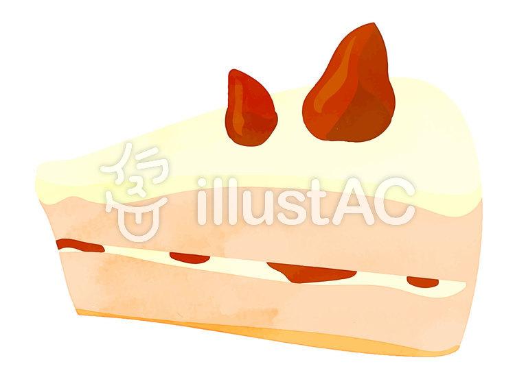 水彩風素材11 ショートケーキのイラスト