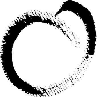 Handwriting round Bakudan (black)