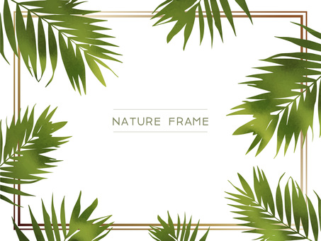 Watercolor botanical frame