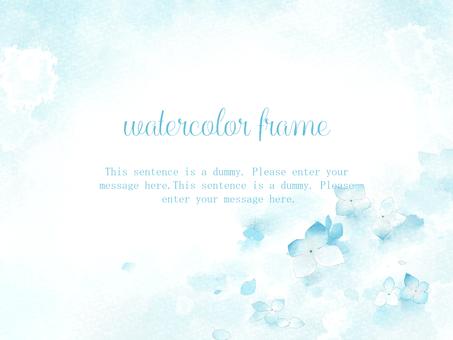 수국의 프레임 02 / 파랑