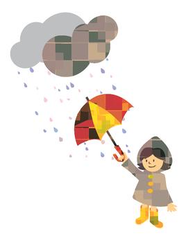 Rain and girls