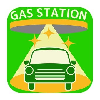 Gas station mark