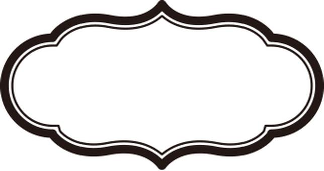 Frame material oval shape