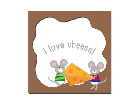 Cheese and mouse frame