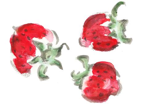 苺 _strawberry picture letter handwritten