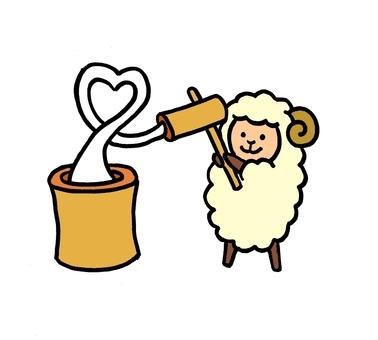 Sheep rice cake
